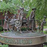 Franz and Nathan Johansen, (Handcart Pioneer Monument), 1997, Florence, Nebraska
