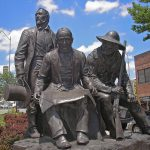 Thomas L. Beard, Pioneer Square Monument, 1986, Westport, Missouri